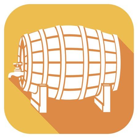 bier festival: beer barrel flat icon