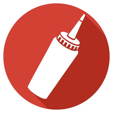 ketchup: tomato ketchup bottle flat icon