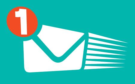 icono de notificación de mensaje (notificación de correo entrante, símbolo de correo nuevo)
