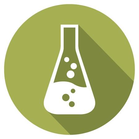 toxic substances: test tube flat icon