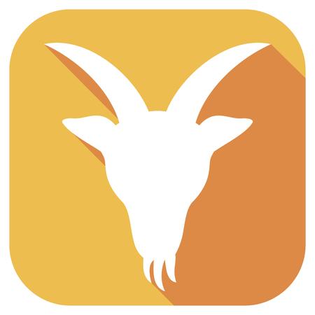 goat head: goat head flat icon (goat zodiac sign)