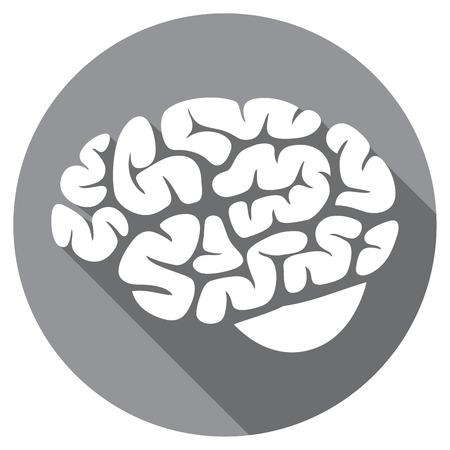 cerebra: human brain flat icon