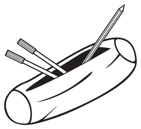 case binder: pencil box (pencil case)