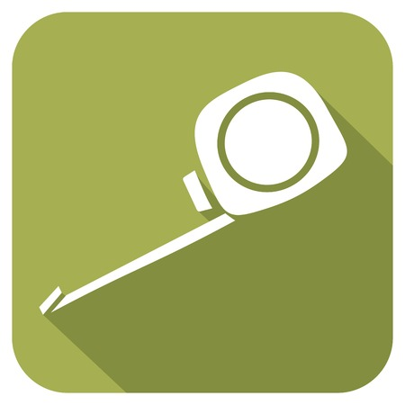 rollup: roll-up tape measure flat icon