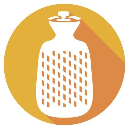 warmness: hot water bottle flat icon