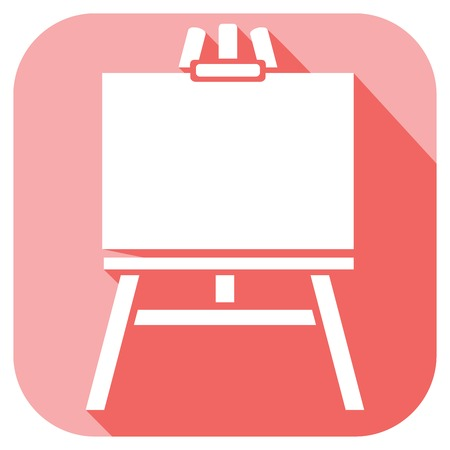 easel: canvas on an easel flat icon