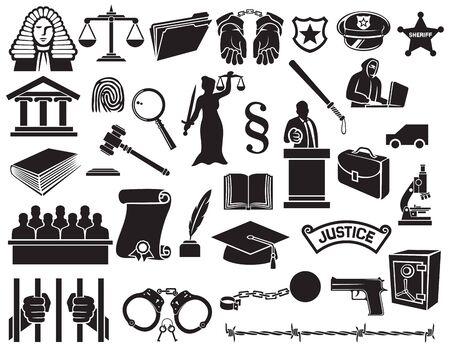 防衛: 法と正義のアイコンを設定