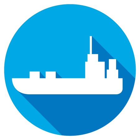 wave tourist: ship flat icon Illustration