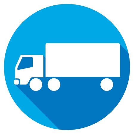 big boxes: truck flat icon Illustration