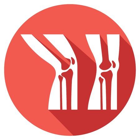 arthritic: human knee anatomy flat icon (human knee joint) Illustration