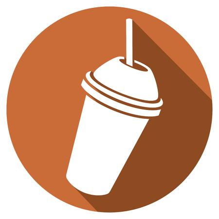 milk shake flat icon