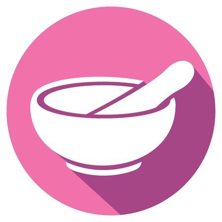 preparation: porcelain mortar and pestle flat icon