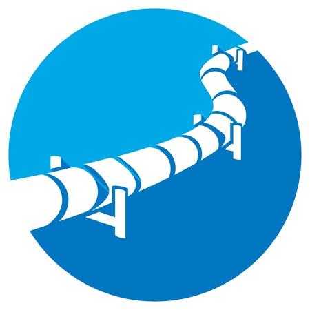 Ikona rurociągu płaskiego (przycisk rurociągu) Ilustracje wektorowe