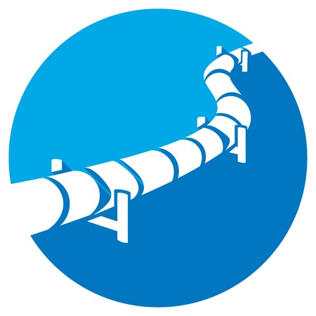 pipeline flat icon (pipeline button)