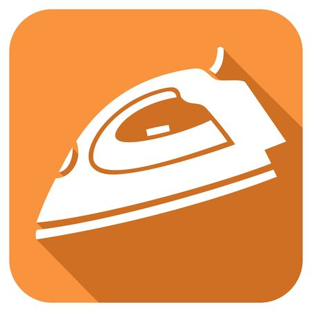 flat iron: steam iron flat icon Illustration