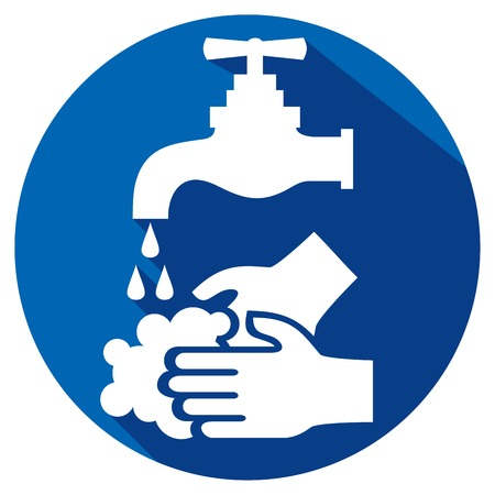 please wash your hands flat icon
