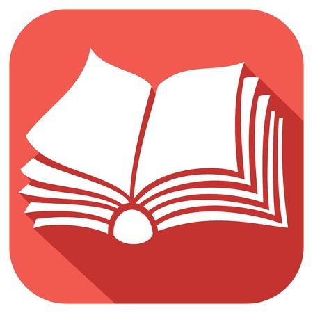 libro abierto icono plana Ilustración de vector