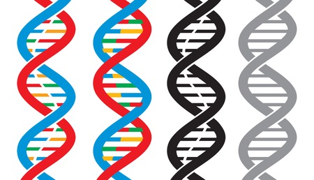 modification: vector DNA strand icons scheme Illustration