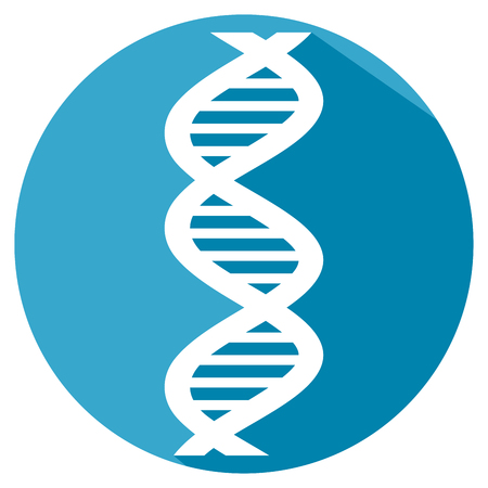 strand: vector DNA strand flat icon