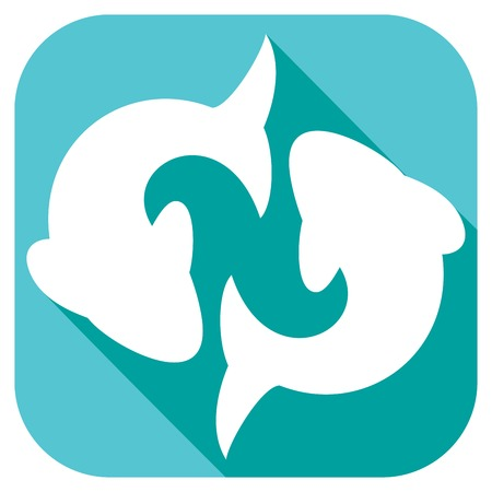 pisces astrology flat icon