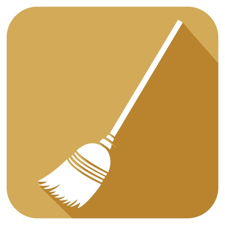 besom: broom flat icon