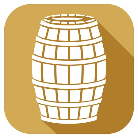 wooden barrel: wooden barrel flat icon