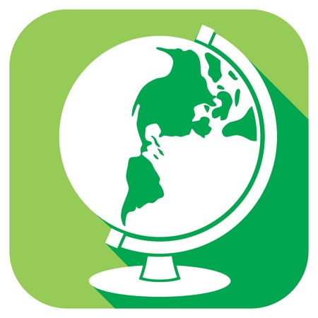 school globe: school globe flat icon (world globe icon)