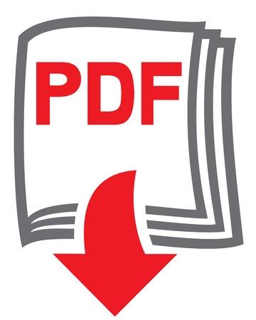 arrow icons: pdf file download icon Illustration