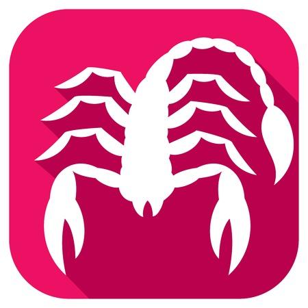 crab legs: scorpion flat icon