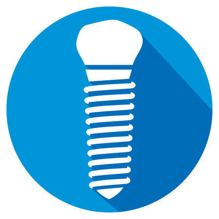 carious: dental implant flat icon
