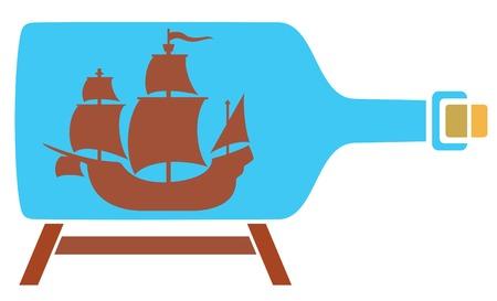 keepsake: ship in a bottle