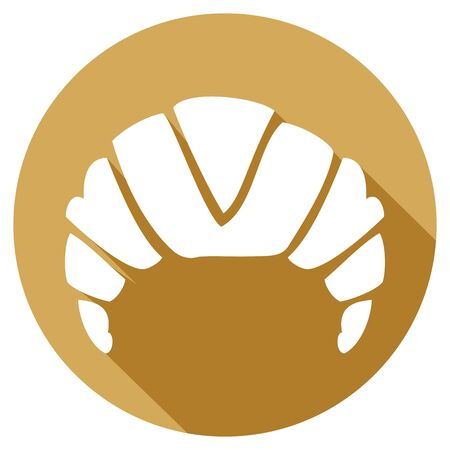 buttery: croissant flat icon