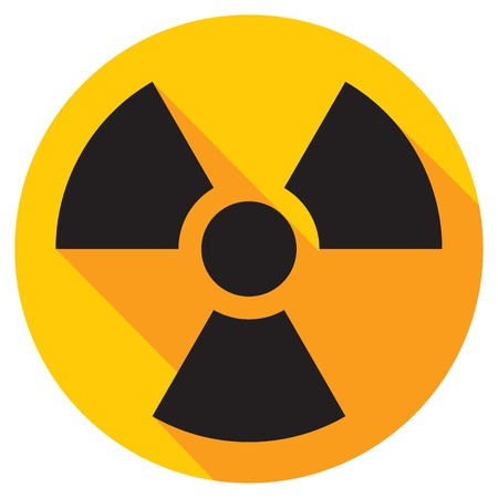 hazardous waste: radiation flat icon