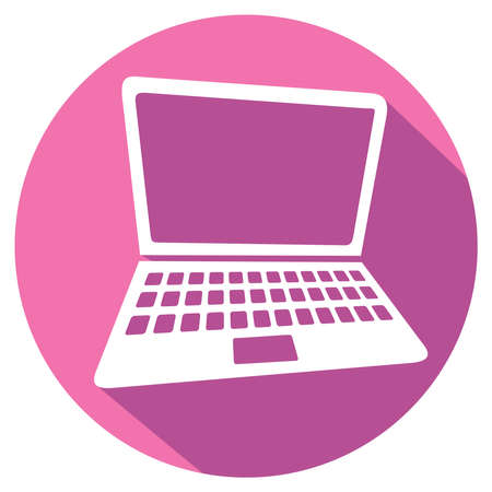 key pad: laptop flat icon