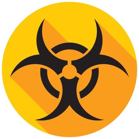 biohazard: biohazard flat icon Illustration