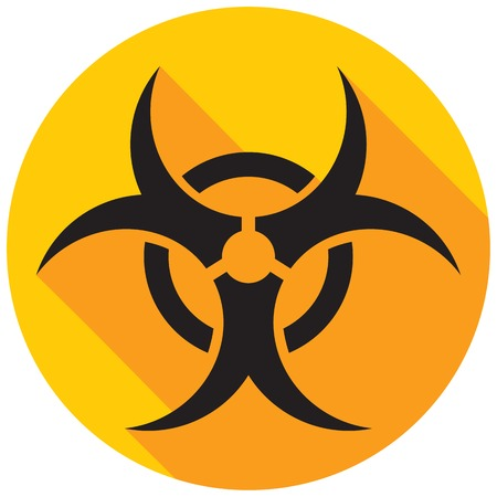 riesgo biologico: icono plano de riesgo biol�gico