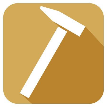 whack: hammer flat icon Illustration