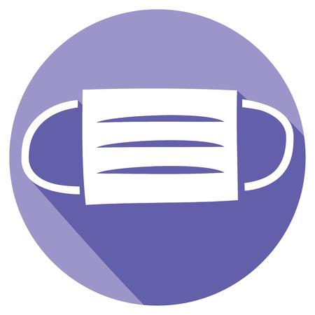medical mask flat icon surgical mask icon 일러스트