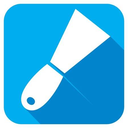 trowel: construction trowel flat icon Illustration