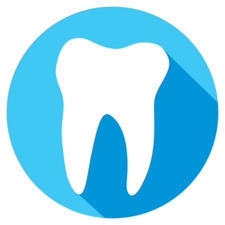 carious cavity: tooth flat icon