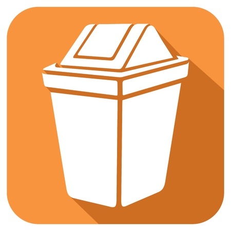 to thrash: recycle bin flat icon waste recycle can sign