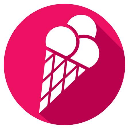 cone: ice cream cone flat icon