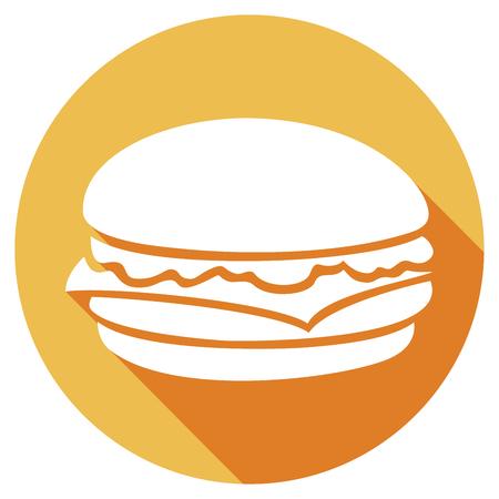 icono plana hamburguesa Ilustración de vector