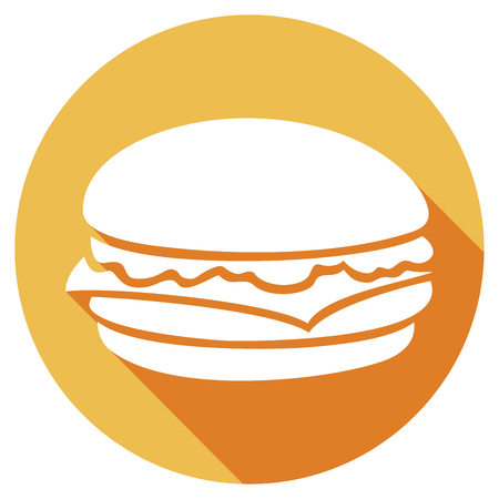 hamburger flat icon Illustration