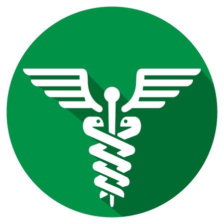 caduceus medical symbol flat icon symbol of pharmacy icon