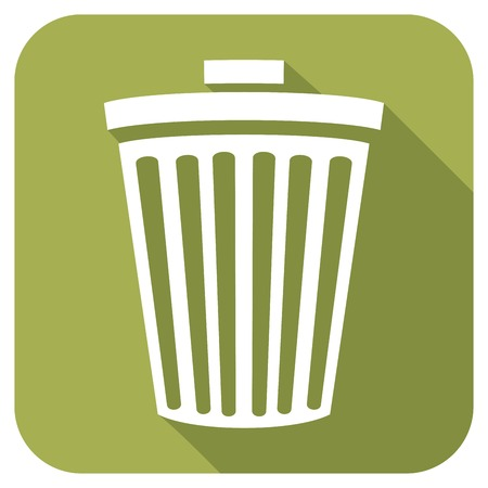 scrunched: recycle bin flat icon wastebasket icon