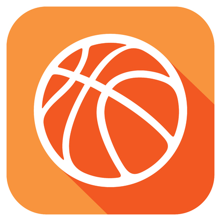 bounce: basketball ball flat icon
