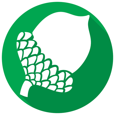 grocers: acorn flat icon