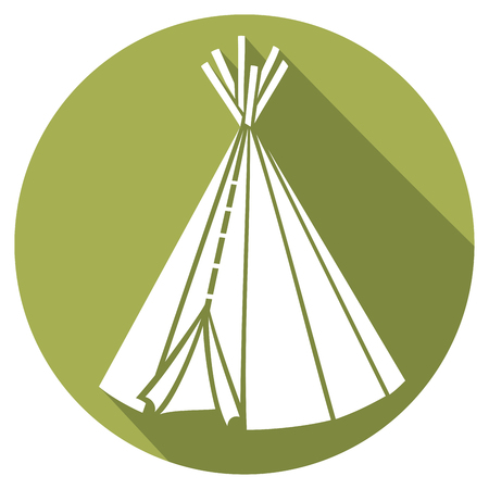 tepee: wigwam flat icon (american indian wigwam, indian tepee, indians tepee)