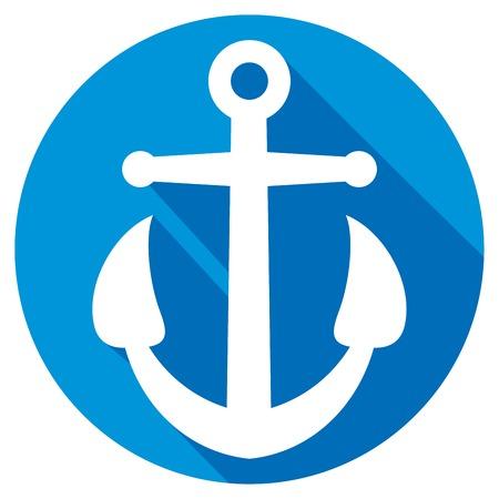navy pier: anchor flat icon